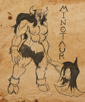 hALLOWeen - 11 - Soul Sacrifice - Minotaur by alorok