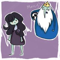 Marcy and Ice King by Kyokaiba