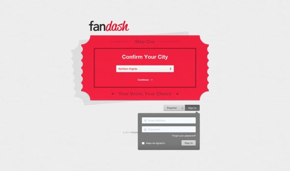 fandash landing page by ebugz