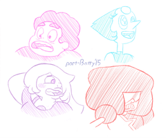 Steven Universe - Character Studies by partiallyBatty
