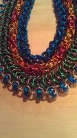 Elemental Chainmaille Necklaces by lance-boudreaux