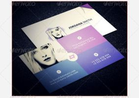 Personal Business Card Template by freebiespsd