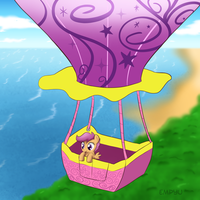 Scootaloo Balloon Ride by Empyu