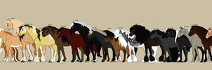 CW | Olde Herd | Height Chart by SagaWolf