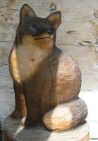 wood carving - Fox by XxLxX