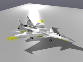 My Su-37 Yellow by Stealthflanker