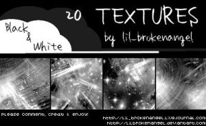 Textures - Black and White by lilbrokenangel
