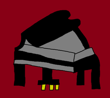 Grand Piano Drawing by PIZZAPIE97