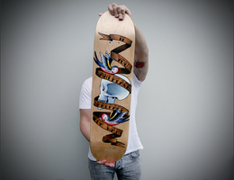 Tattoo Art Skateboard deck by GeeeO