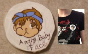 2013 Gift: Angry Baby Face Pin by MaiShark