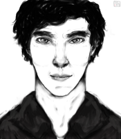 Benedict Cumberbatch by Redpaperlantern