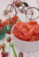 Watermelon with Iced Lemon Caviar by theresahelmer