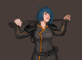 Pirate Captain of a Starship WIP v4 by aomcesare