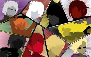 RWBY JNPR and Beacon Leaders Collage Silhouette by DanTherrien101