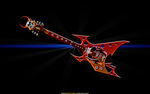 SKULL FLYING V GUITAR by CSuk-1T