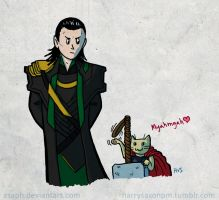 Loki and Thorkitty by Asaph