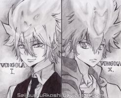 Giotto and Tsuna by SeijuurouAkashi