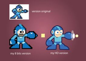 my 8bits megaman by silent2283