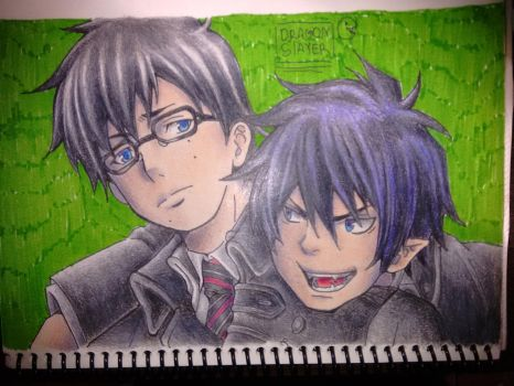 blue exorcist fanart by DragonSlayerDraw