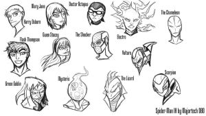 Spider-Man IH  head Sketches by IHComicsHQ