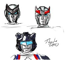 Robot faces by Kenthayle
