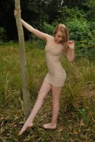 Mares - beige dress pose 2 by wildplaces