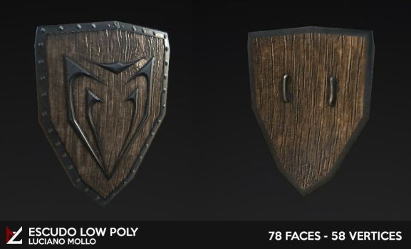 Escudo / Shield Low Poly by LucianoMolloDesigns