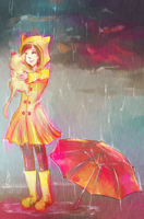 Kitty Rain by Miranduless