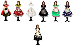 All of the Dresses by Grim-Heaper