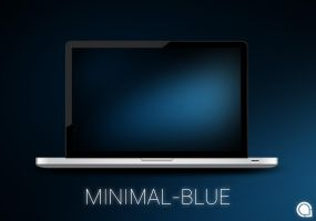 Minimal Blue by thechampishere03