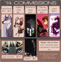 New 2014 Commission Price Chart by preimpression
