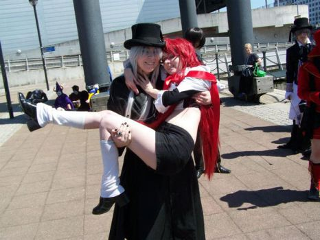 Undertaker and Grell by MonsterTeacup