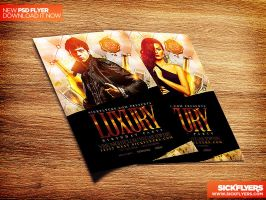 Luxury Party Flyer Template PSD by Industrykidz