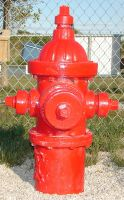 Red Fire Hydrant Fireplug by FantasyStock