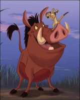 timonandpumbaa by Izuss