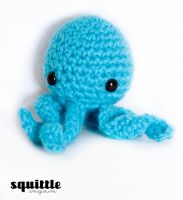 Teeny Blue Octopus by candypow