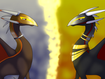 The Golden Exile and The Silver Spirit by xXBlueFireDragonXx