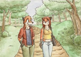 A walk in the park by fecama