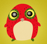 Strawberry Owl by rifftiff