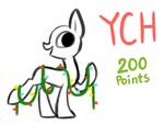 Chibi Christmas Lights Pony - YCH - OPEN by Starrceline