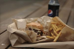 Little Big Burger, truffle fries...and a Pepsi by artnchicken