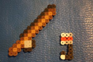 Perler Beads- Fishing Rod by Puppylover5