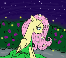 Bride of Discord - Fluttershy in the Garden by WolfSpirit1292