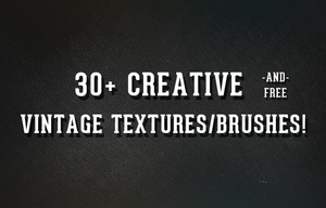 30+ Creative, Free Vintage Textures/Brushes by frozencolor