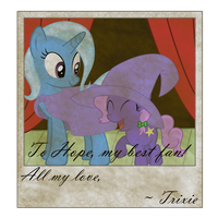 Trixie and Hope (Smudged Photo) by Lucefudu