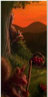 A Squirrel Harvest - Detail 1 by axcelia