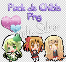 Pack de Chibis Png / Png Chibi Pack by Vale-Silva