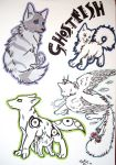Doodles For Ghost-fish by TsukiTsu