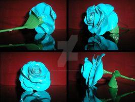 Duct tape blue rose by DuckTapeBandit