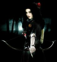 Katniss with Bow and Arrow by katherinemegan